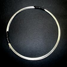 German Silver for wire wrapping, 18G Half Round HH - Hand Drawn - Tarnish Free!