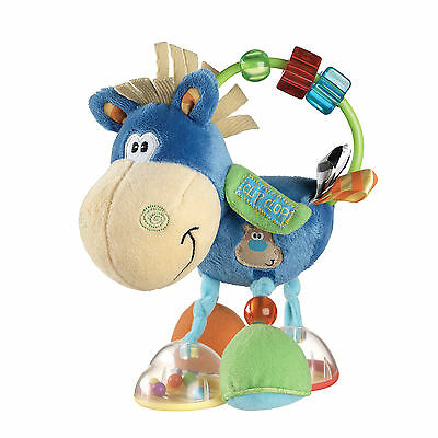 Playgro Pferd Klipp Klapp mit Rassel Greifring ideal für kleine Kinderhände