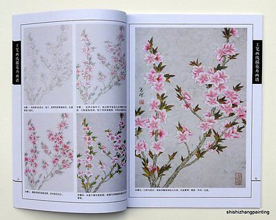 Chinese painting book peach blossom by xianmiao line drawing gongbi meticulous