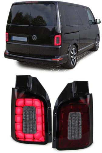 LED Lightbar Rückleuchten rot schwarz smoke für VW T6 ab 15