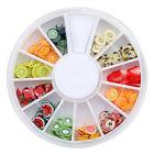 240 Fruit Slice Nail Art Tips UV Gel Decoration + Wheel New
