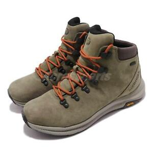 03707218b61 Details about Merrell Ontario Mid Waterproof Olive Green Men Outdoors  Hiking Shoes J84907