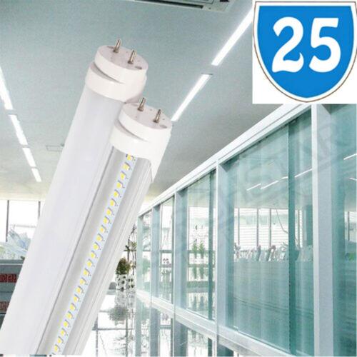 25x 2ft 9W = 18W CFL Retrofit LED T8 Tube 900lm Cool White Bright Light Fitting