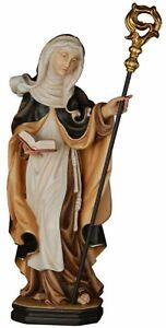 Statue von Santa Elvira CM 20 Geschnitzt IN Holz Der IN Gröden Anstand Hand