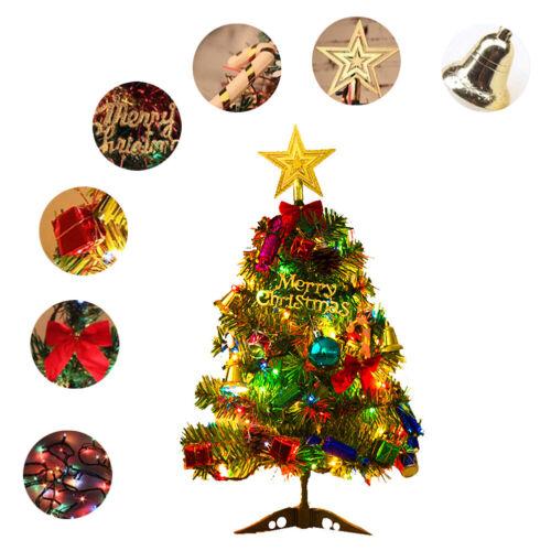 50cm Mini Weihnachtsbaum Tannenbaum Tischbaum Weihnachten Deko mit LED Ornamente