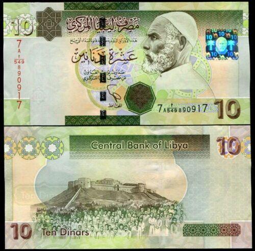 2011 P 73 NEW SIGN UNC LIBYA 10 DINARS 2009