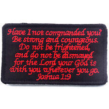 BIBLE QUOTES BIBLE SAYS MORALE BADGE PATCHES EMBROIDERED HOOK & LOOP PATCH #02