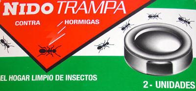 Lote 5 Cajas de Trampa para hormigas 2 unidades por caja sin veneno