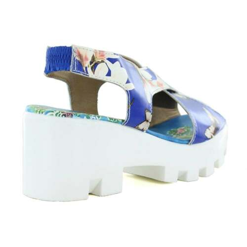 Blue 4a Vita Laura Platform Virus Leather Womens Sandals Sl9766 78qxqwFa