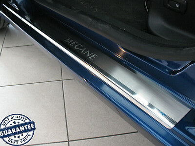 Stainless Steel Door Sill Guard Scuff Protector fit Renault MEGANE III 2009-2014