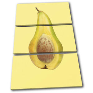 Pear-Avocado-Concept-Fruit-Food-Kitchen-TREBLE-CANVAS-WALL-ART-Picture-Print