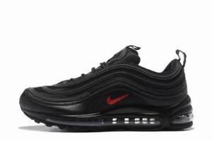 Nike Air Max 97 Silver Black RED Originali& nuove con scatolo e cartellino