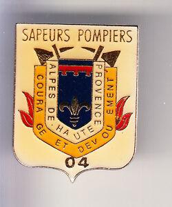 RARE-PINS-PIN-039-S-POMPIER-FIRE-CASERNE-BLASON-ARM-ALPES-DE-HAUTE-PROVENCE-04-CD