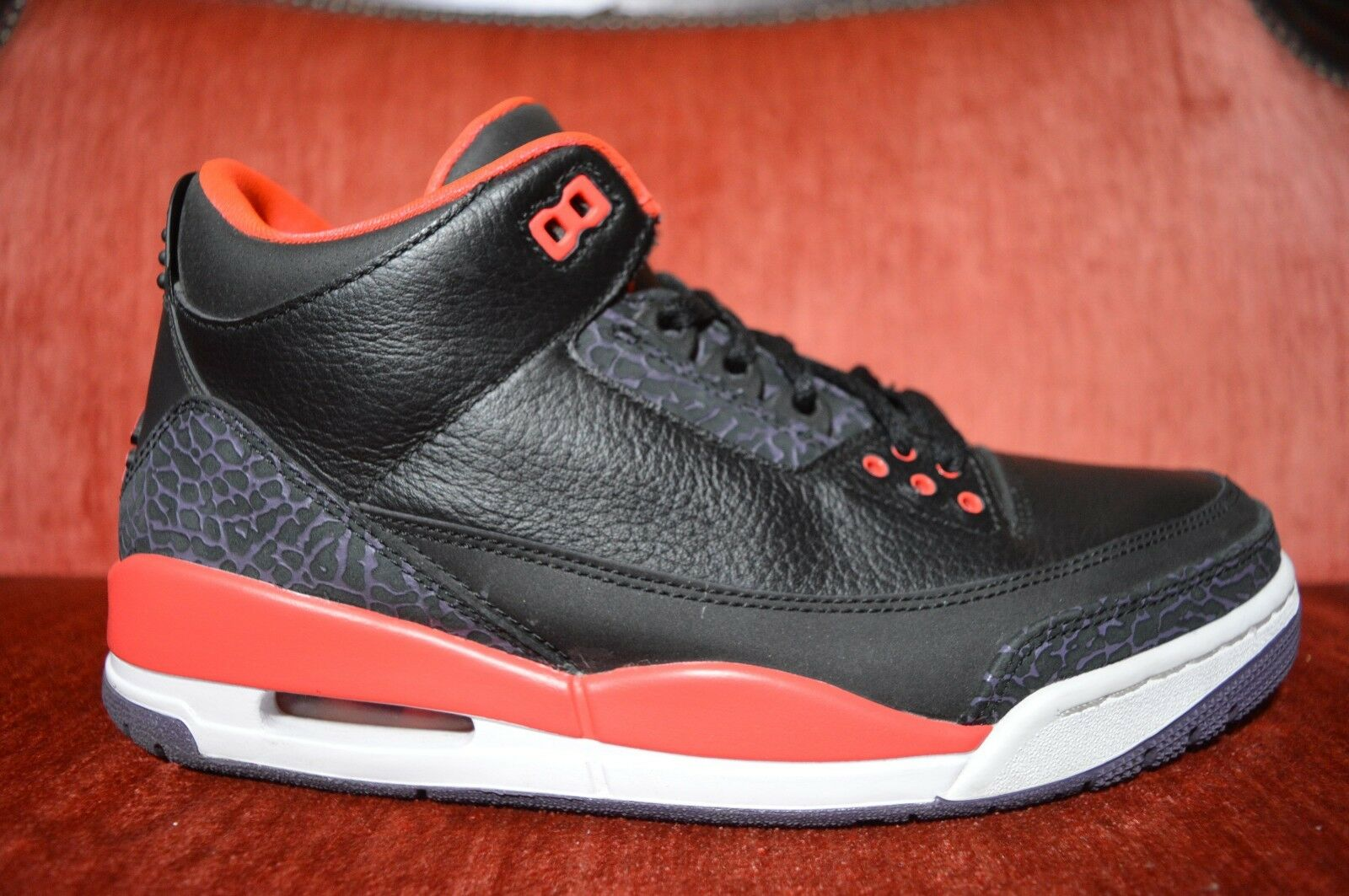 Nike Crimson Air Jordan 3 retro Crimson Nike 136064-005 Hombre zapatos comodos Wild Casual Shoes 3ffc63