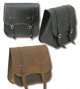 Details about Pannier Bike Bag Black Side Leather BLACK Custom Harley Honda Universal show original title