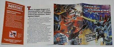 Transformers Original G1 1984 Mail Away Insert Offer Form