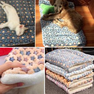 Dog-Cat-Puppy-Pet-Plush-Blanket-Mat-Warm-Sleeping-Soft-Bed-Blankets-Supplies-UK