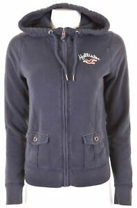 Hollister-Femme-Sweat-a-Capuche-Pull-Taille-14-Large-Coton-Bleu-Marine-JU03
