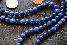 8mm Sodalite Karma Prayer Beads Hand Made Japa Mala Necklace - Energized