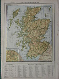 1926 MAP ~ SCOTLAND PERTH DUMFRIES WIGTOWN ABERDEEN ~ EDINBURGH ENVIRONS