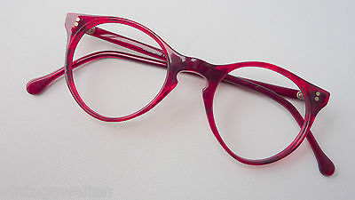 Fiducioso Meitzner Zocca Inaspettatamente Piccoli Occhiali Acetato In Pantoform Rosso Scuro 45-21 Size S-mostra Il Titolo Originale