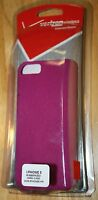 Iphone 5 Rubberized Hard Cell Phone Case Purple Verizon Brand Case
