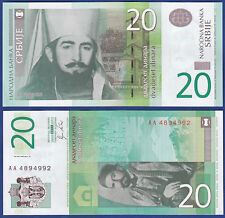 SERBIEN / SERBIA 20 Dinara 2011 UNC  P. 55 a