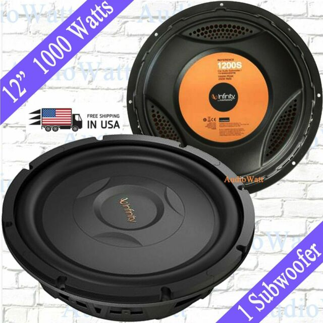 "INFINITY REFERENCE 1200S CAR 12/"" SHALLOW MOUNT SUBWOOFER W// SELECTABLE IMPEDANCE"