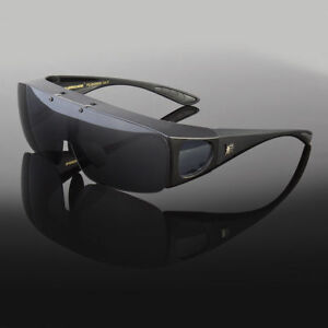 a9705f02757 Image is loading POLARIZED-FIT-OVER-SUNGLASSES-COVER-ALL-GLASSES-DRIVE-