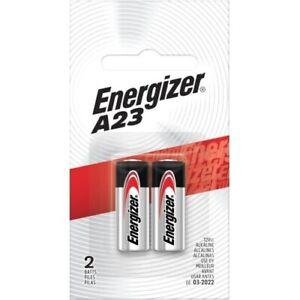 Genuine 2 x Energizer A23 Alkaline Remote Batteries 12V MN21 R23A 21A Battery