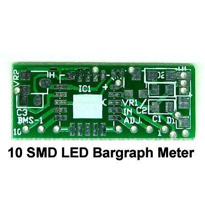 DIY LM3915 VU audio LM3914 linear voltage brd 10 LED bargraph display meter PCB