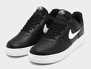 NIKE-AIR-FORCE-1-039-07-LV8-CUT-OUT-MEN-039-s-Sz-10-5-Shoe-Black-White-CZ7377-001-NEW