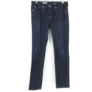 AG-Adriano-Goldschmied-Womens-Size-29-The-Stevie-Slim-Straight-Jeans-Dark-Wash