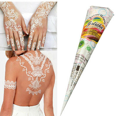 Natural Herbal Henna Cones Temporary Tattoo kit White Body Art Paint Mehandi Ink