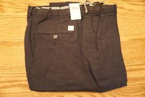 NWT-MEN-039-S-LUCKY-BRAND-100-LINEN-PANTS-Multiple-Sizes-Hightide-Twill-Black-89