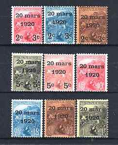 MONACO-YVERT-34-42-034-WEDDING-PRINCESS-CHARLOTTE-1920-9-STAMPS-034-MNH-VF-R103