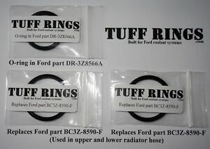 Greased O-Rings for Ford DR3Z8566A (DR3Z8566B) & 2x BC3Z8590F, GUARANTEED FIT!