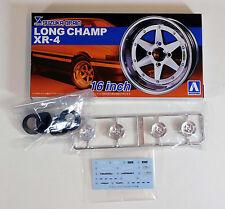 "Aoshima 1/24 Long Champ XR-4 16"" Wheel & Tire Set For Plastic Models 5249 (10)"