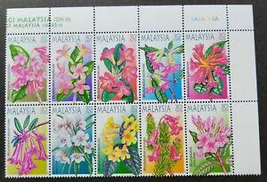 SJ-Highland-Flowers-Malaysia-2000-Flora-Plant-Leaf-Tree-stamp-plate-MNH