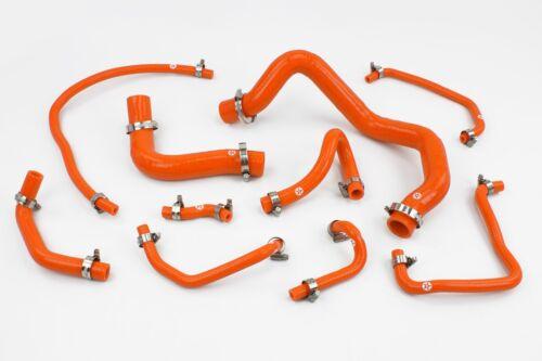 Stoney Racing Mazda Mx5 MK2 NB 1.6 Silicone Coolant /& Breather Hoses Orange