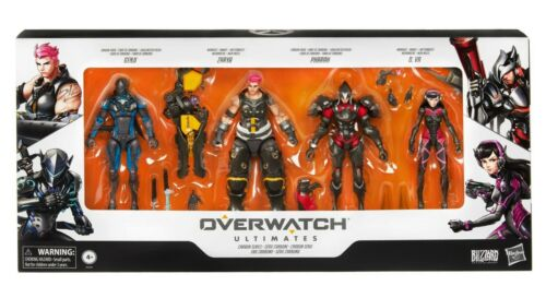 """Hasbro Overwatch Ultimates 6/"""" Carbon Fibre Skins 4-Pack Exclusive Set"""