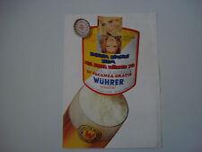 advertising Pubblicità 1971 BIRRA WUHRER
