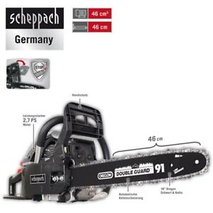 Scheppach-Benzin-Kettensaege-2-7-PS-Motorsaege-46cm-mit-Oregon-Schwert-CSH46