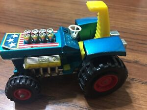 Vintage-1973-Matchbox-Lesney-Super-Kings-K3-Mod-Tractor-Blue-England-RARE