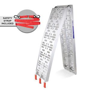 Loading Ramp Aluminium Folding 1pc 225cm Length x 28cm Wide Capacity Up To 340Kg