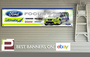 Ford Focus RS Workshop Banner PVC Banner with Eyelets Mk2 Focus RS GREEN
