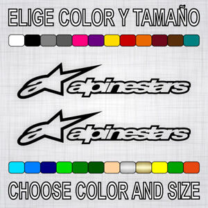 PEGATINAS-ALPINESTARS-X2-vinilo-sticker-autocollant-aufkleber-adesivi-moto-decal