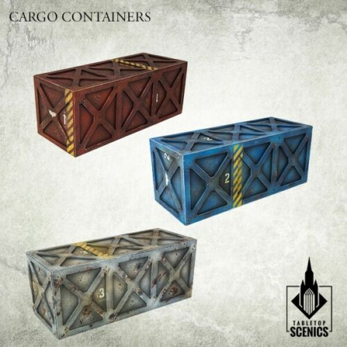 industrial sector Kromlech HDF tabletop scenics KRTS 129 Cargo Containers 3
