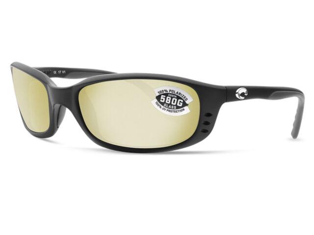 57bd462084 Costa Del Mar Brine Matte Black   Silver Sunrise Mirror 580 Glass 580G - NEW