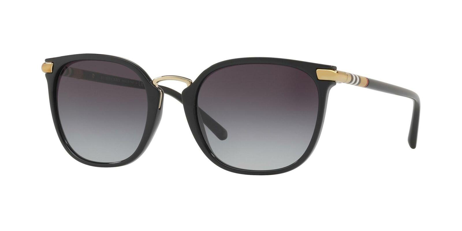 Burberry TUBULAR CHECK BE 4262 Black/Grey Shaded 53/21/140 women Sunglasses